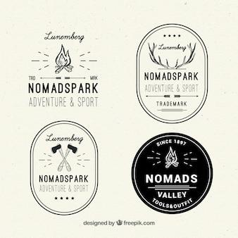 Logotipos de aventura bosquejos