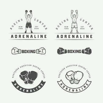 Logotipos de boxeo y artes marciales.