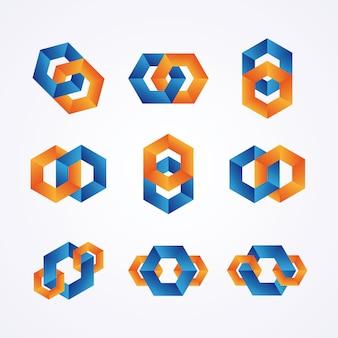 Logotipos de cadenas creativas.