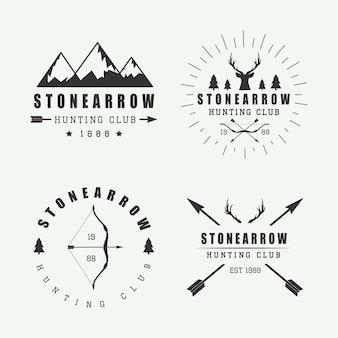 Logotipos de caza y distintivos.