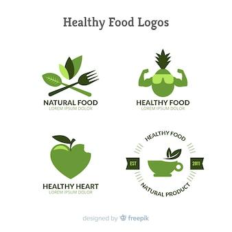 Logotipos de cocina saludable y vegano