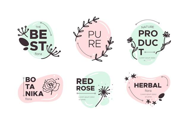 Logotipos combinados de negocios y naturaleza