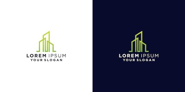 Logotipos creativos de casas y edificios.