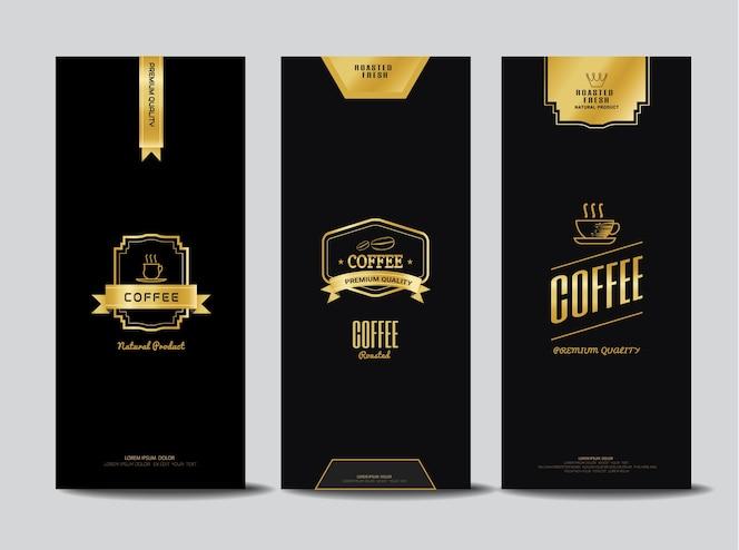 Logotipos de café para embalaje