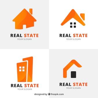 Logotipos de inmobiliaria anaranjados
