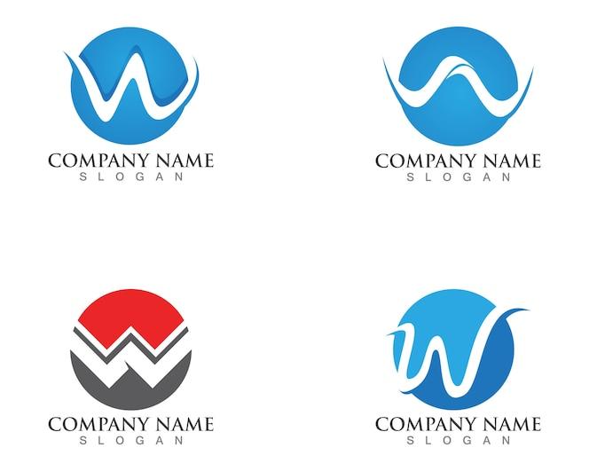 Logotipos de la letra w