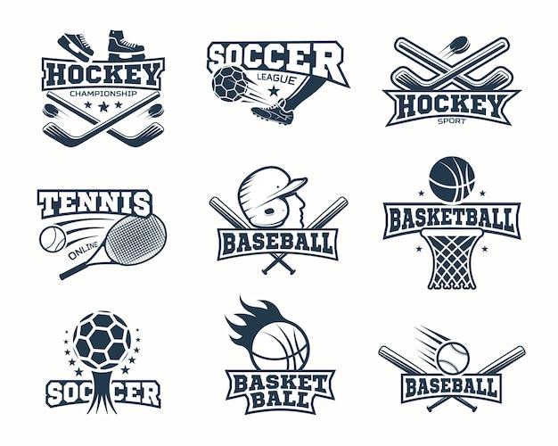 Logotipos deportivos monocromáticos
