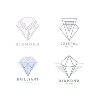Logotipos de diamantes para la colección de la empresa.