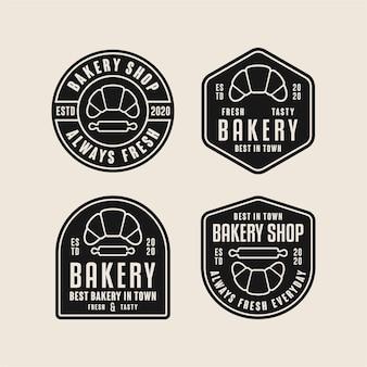 Logotipos de diseño de insignia de panadería