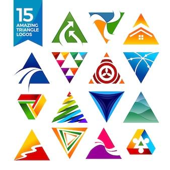 Logotipos de formas triangulares