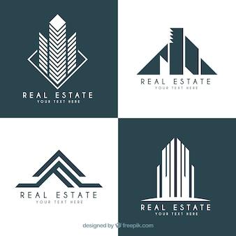 Logotipos inmobiliarios en diseño moderno
