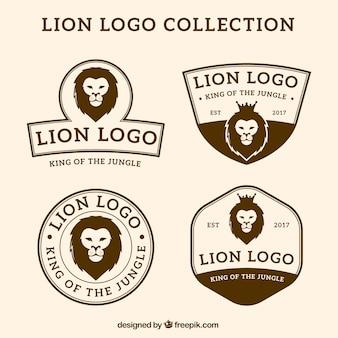 Logotipos león, estilo vintage