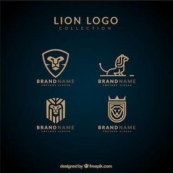 Logotipos león lineales