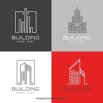 Logotipos modernos de inmobiliaria