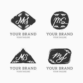 Logotipos de ms pintados a mano