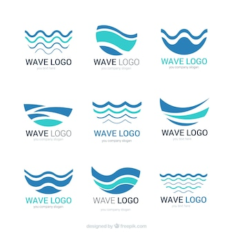 Logotipos de olas abstractas