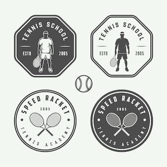 Logotipos de tenis, emblemas, insignias.