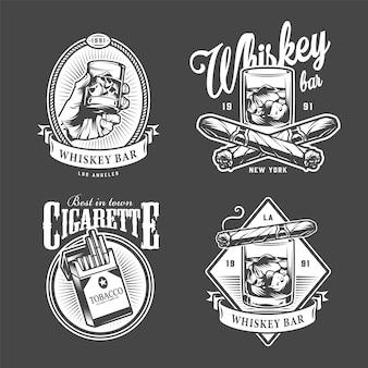 Logotipos vintage de club de hombres