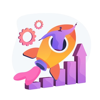 Logro de éxito. aspiraciones profesionales, promoción laboral, crecimiento personal. trabajador motivado, empresario volando en cohete, motivación y determinación.
