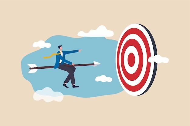 Logro del éxito empresarial, liderazgo para sobrevivir y ganar una estrategia comercial o establecer un objetivo.