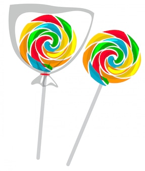 Lollipop colorido aislado