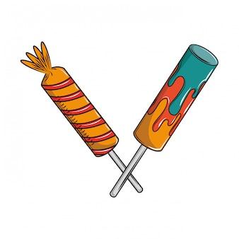 Lollipops cruzaron dibujos animados