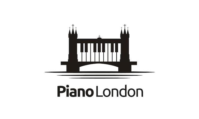 London / bridge piano logo design inspiration