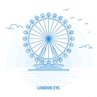 London eye blue landmark