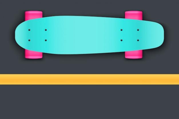 Longboard sobre asfalto