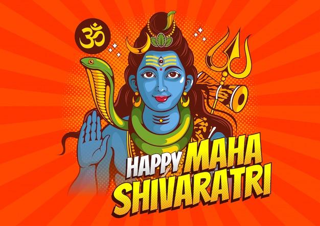 Lord shiva de la india para el tradicional festival hindú, maha shivaratri