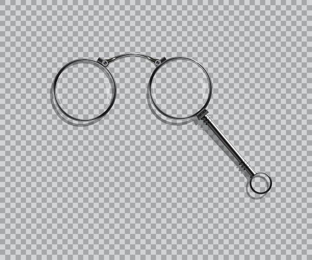 Lorgnette aislado realista sobre fondo transparente.