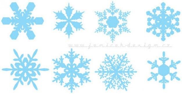 Los copos de nieve vectoriales colorido