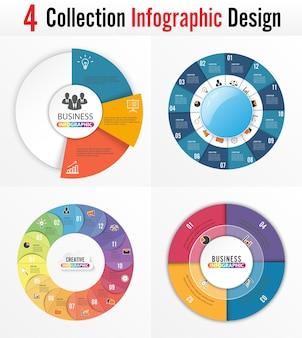 Los iconos de infografía y marketing se pueden usar para el diseño del flujo de trabajo.