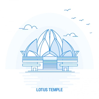Lotus temple blue landmark