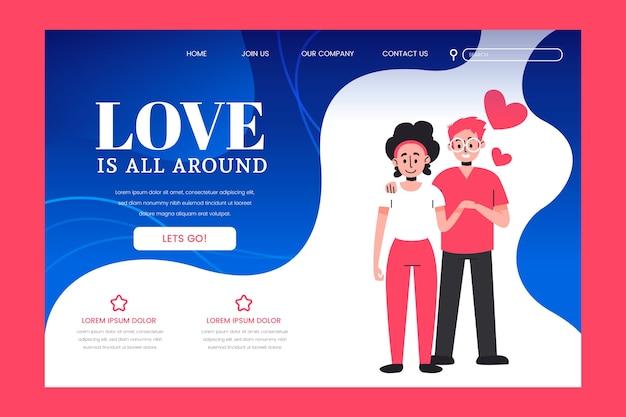 Love landing page