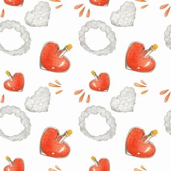 Love poution y humo en forma de corazón