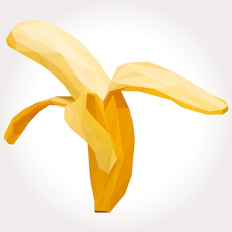 Lowpoly de fruta de plátano aislado