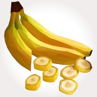 Lowpoly of bananas alimento fruta