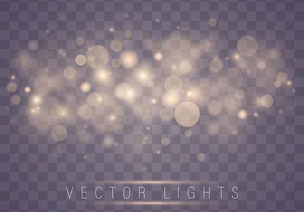 Luces abstractas brillantes brillantes del bokeh. concepto de navidad.