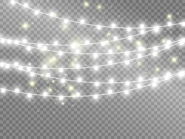 Luces aisladas sobre fondo transparente. ilustración