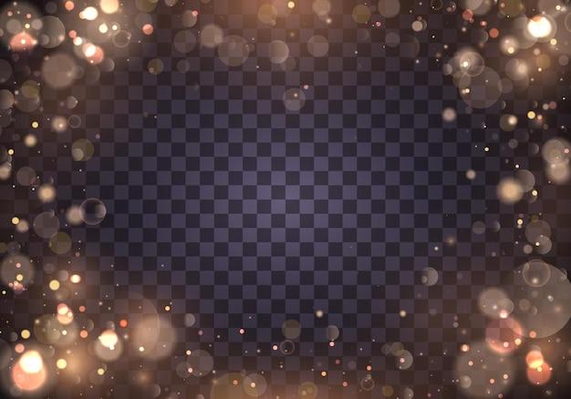 Luces de bokeh que brillan intensamente abstractas ligeras.