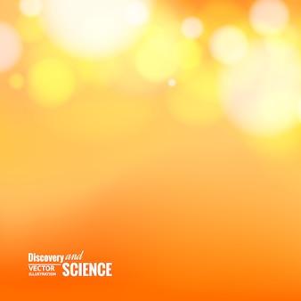Luces de bokeh sobre fondo naranja.
