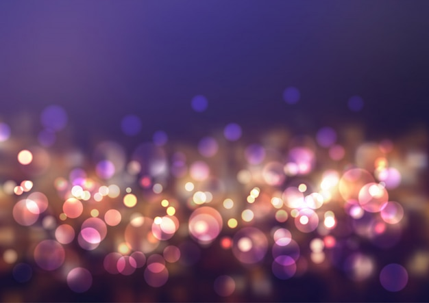 Luces brillantes de bokeh