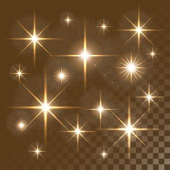 Luces brillantes y estrellas