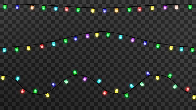 Luces brillantes para navidad, decoraciones de guirnaldas