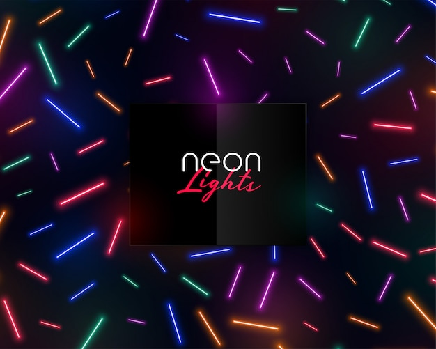 Luces de confeti de neón coloridas brillantes