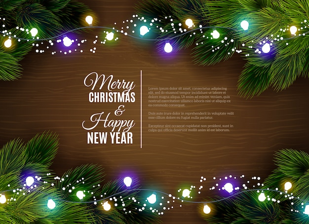 Luces de navidad decoración borger temporada saludos