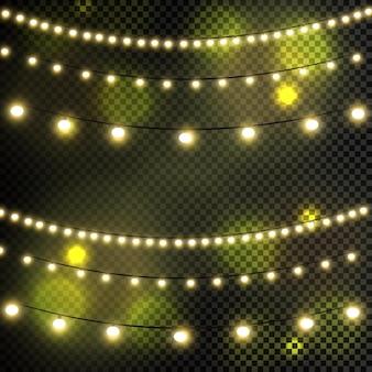 Luces de navidad, aislado