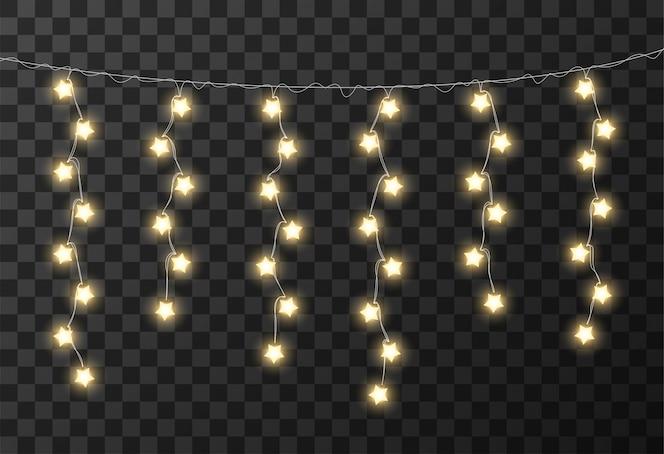 Luces de navidad fondo transparente