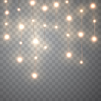 Luces de navidad. guirnalda brillante de vector